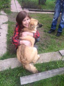 собака из приюта Зов Предков Райли с хозяйкой Галиной