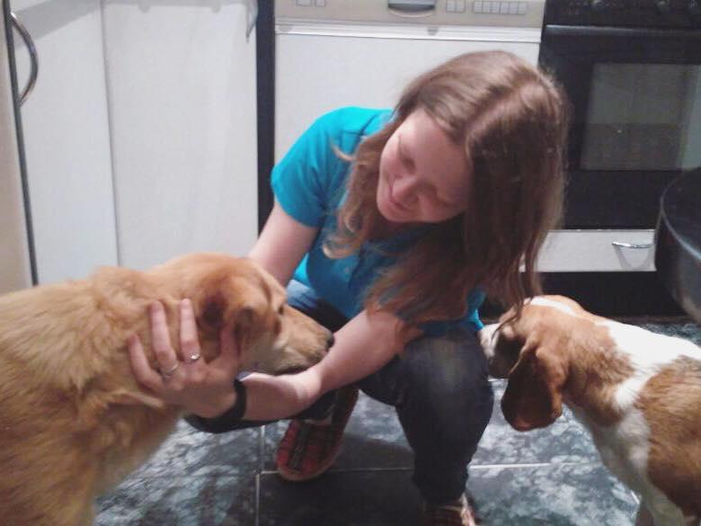 слепой Рэй дома, собака из приюта Зов Предков пристроена в семью